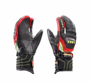 Gants de ski LEKI Junior Worldcup Race Lobster noir et rouge