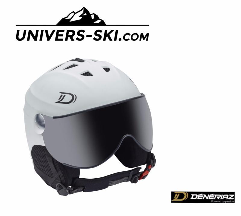 Casque De Ski Dénériaz Orizon Avec Visière Blanc 2018