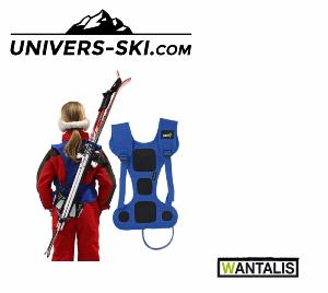 Porte skis Wantalis mains libres Enfant Rouge