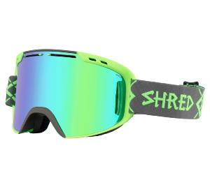 Masque de Ski SHRED AMAZIFY BIGSHOW GREY-GREEN CBL / PLASMA 2019