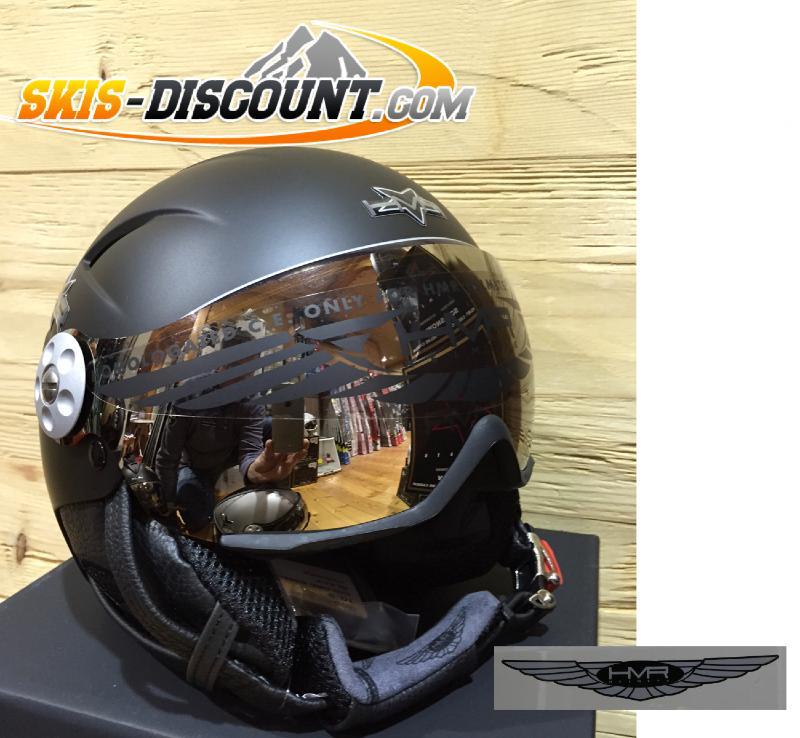 casque de ski hmr h1 h2 noir mat oreilles amovibles visi re. Black Bedroom Furniture Sets. Home Design Ideas