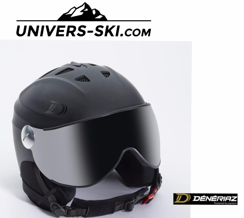 Casque De Ski Dénériaz Orizon Avec Visière Noir 2018