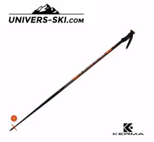 Bâtons de ski KERMA Vector Plus Bi mat Noir / Orange 2020