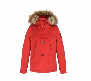 5487e897413 Veste de ski NAPAPIJRI Skidoo Femme Eco Fur ORANGE Rouge 2019