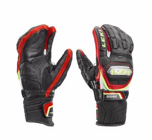 Gants de ski LEKI Adulte Worldcup Race Lobster noir et rouge