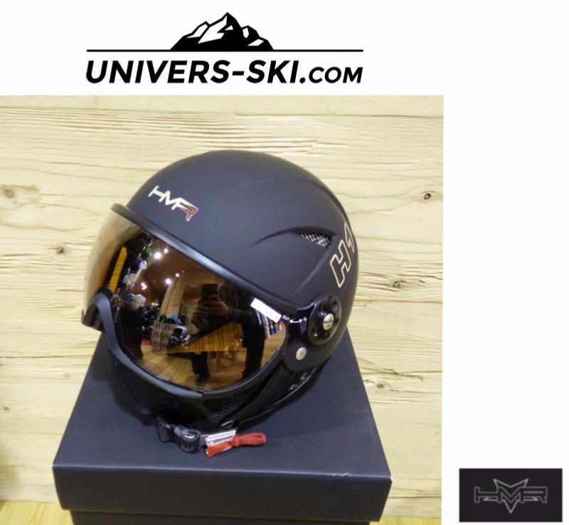 Casque De Ski Hmr H1 Noir Avec Visière S3 Miroité Orange