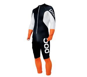 Combinaison de ski POC Skin GS JR noir / blanc /orange 2019