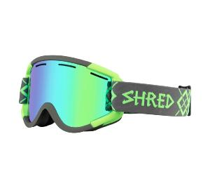 Masque de Ski SHRED NASTIFY BIGSHOW GREY-GREEN CBL /PLASMA 2019