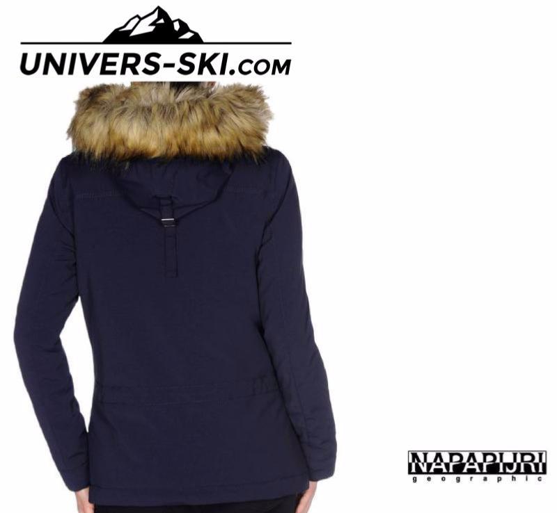 ski femme blouson bleu