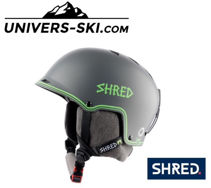 Casque de ski SHRED HALF-BRAIN D-Lux Grey-Green 2020