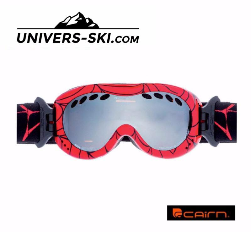 masque de ski cairn enfant drop rouge araign e spx 3000 2017. Black Bedroom Furniture Sets. Home Design Ideas