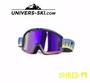 Masque de ski Shred Monocle Royale navy Bleu