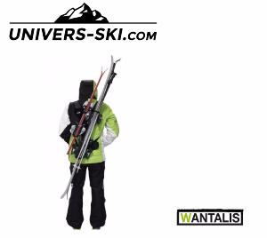 Porte skis simple ou double Wantalis mains libres Adulte Noir