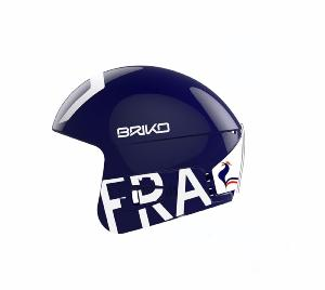 Casque de ski Junior BRIKO Vulcano FIS 6.8 FRANCE Bleu 2018